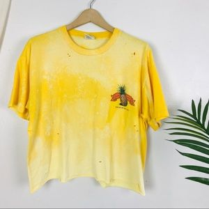 Vtg GAP Hawaii Pineapple Yellow Distressed T-Shirt
